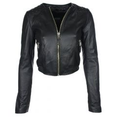 collarless leather jacket mens