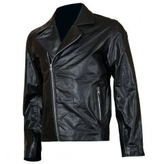 Ghost Rider Biker Leather Jacket front view