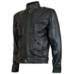 """Ghosts of Girlfriends Past """"Matthew"""" Leather Jacket font view"""