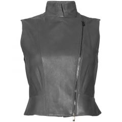 womens sleeveless vest jacket