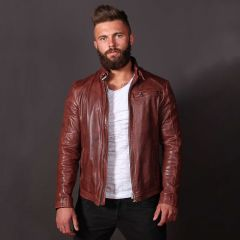 Jazz Leather Jacket for Men front view