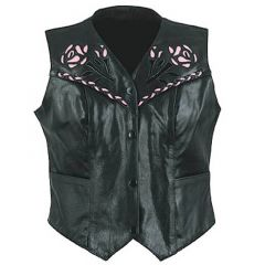 leather vest womens