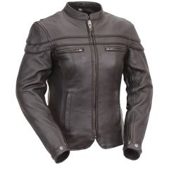 Leather Rider Touring Jacket with Sleeve & Pocket Vents front view