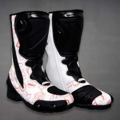 Marquez COVID 19 Racer Boots Motorcycle MotoGP 2020 side view