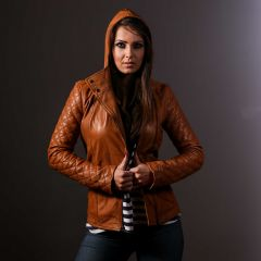 casual leather jacket womens