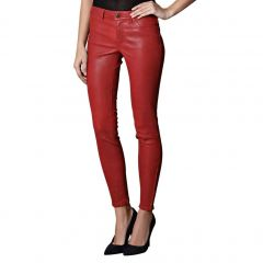Red Leather Pants Front View