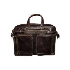 Retro Leather Laptop Bag front view