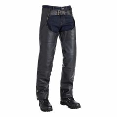 Richmond Biker Fashion Leather Chaps right view