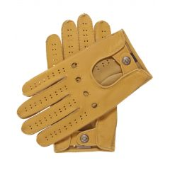 Tan Mens Leather Driving Gloves