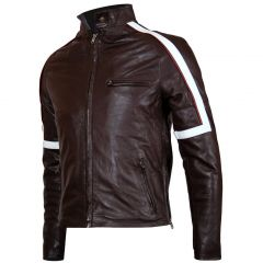 Tom Cruise War Of The World Leather Jacket front view