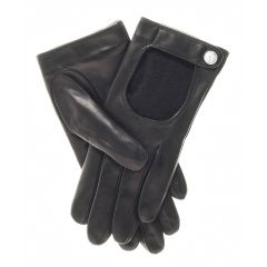 Winter Cashmere Wool Lined Driving Gloves upper view