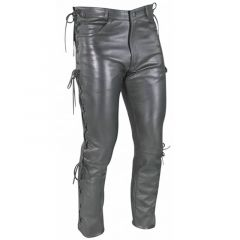 Leather Lace Pants front view