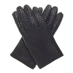 Woven Leather Gloves upper view