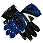 Bravo Blue Biker Gloves