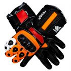 Honda Repsol Leather Motorbike Gloves upper view